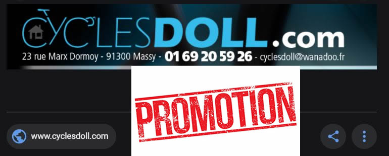 Promotions chez Cycle DOLL